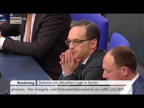 Vereinbarte Debatte zur aktuellen Lage in Syrien am 18.04.18