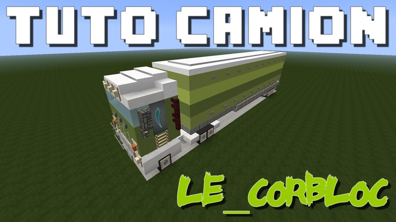 minecraft tuto camion youtube. Black Bedroom Furniture Sets. Home Design Ideas
