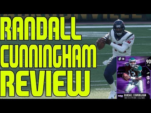 90 TWITCH PRIME RANDALL CUNNINGHAM REVIEW | MADDEN 18 ULTIMATE TEAM PLAYER REVIEW