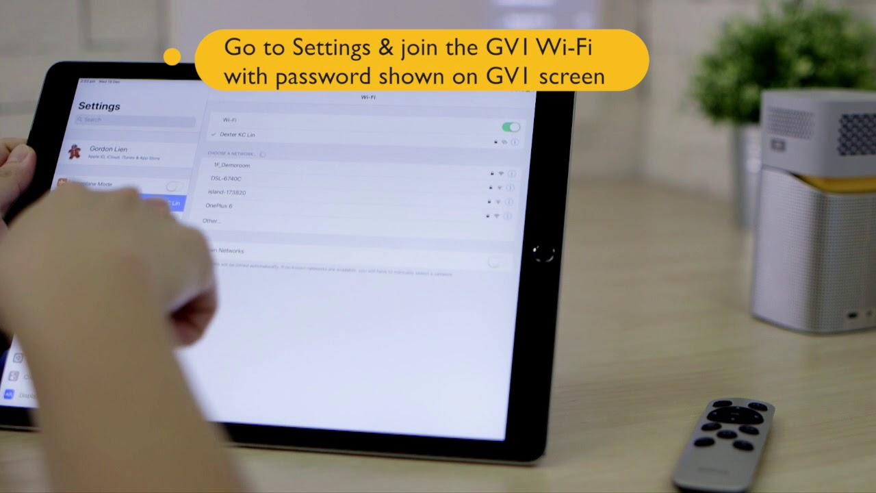 微型投影機 GV1 當熱點與 iPad 平板電腦的無線投影設定│BenQ投影機 - YouTube