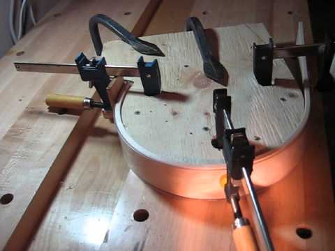 Steam bending wood for a toboggan