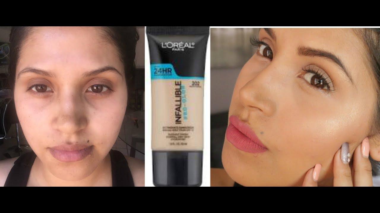 base de maquillaje loreal infalible pro glow