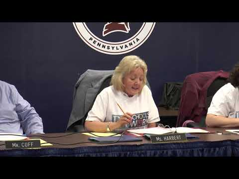 William Penn School District Board Business Meeting April 22, 2019