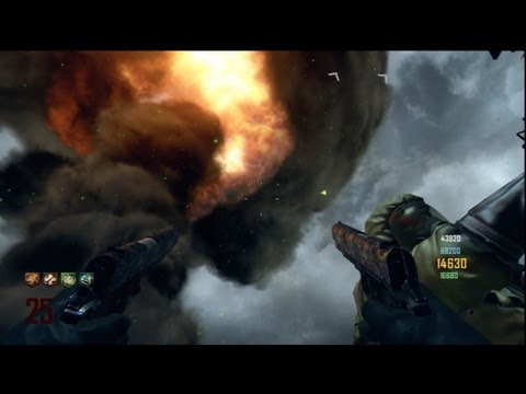 "Nuketown Zombies ""Yellow Shed of the Dead"" 4 Player Ultimate Camping Strategy - Black Ops 2"