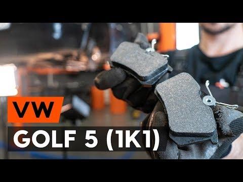 Как заменить тормозные колодки заднего дискового тормоза на VW GOLF 5 (1K1) [ВИДЕОУРОК AUTODOC]