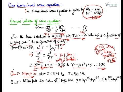 General Solution of one dimensional wave equation