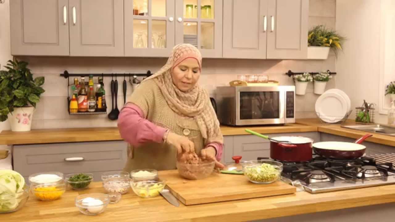 ارز بالفول الاخضرو كفتة بانيه مع منال رشاد في الاكل البيتي (الجزء الثاني)