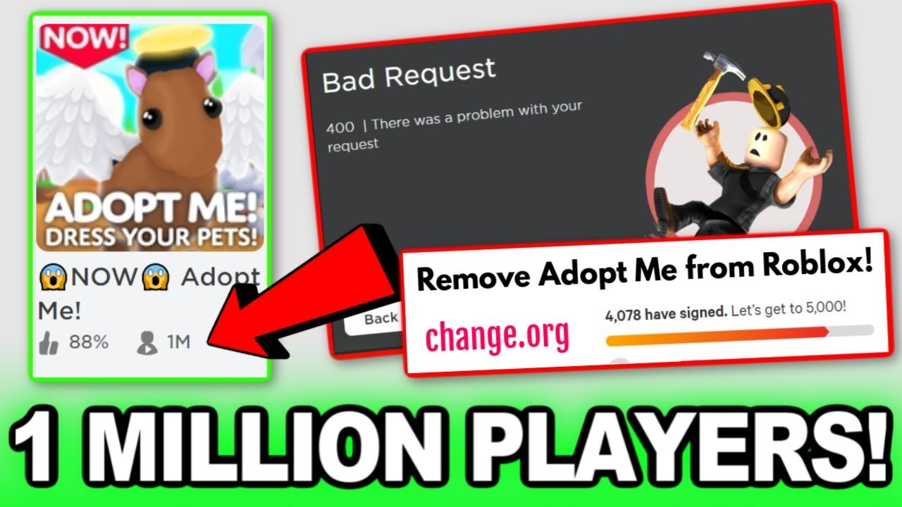 Adopt Me Got 1 Million Players And It Broke Roblox Youtube