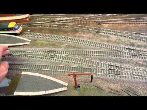 track plan 1 of DC analogue shed layout, fiddle yard and passing loops