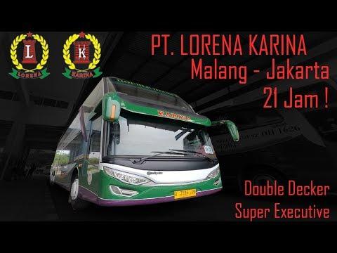 Lorena Karina : Naik Double Decker LAMA! Malang-Jakarta, 21 Jam ! Ngeblong! (Puterwalik)