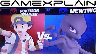 Super Smash Bros. Ultimate 1 vs 1 Gameplay - Mewtwo vs. Pokémon Trainer in Prism Tower (+Taunts!)