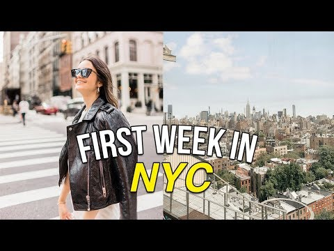 MY FIRST WEEK LIVING IN NYC: trader joes grocery haul, nyfw, exploring my neighborhood