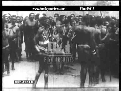 Funeral in Africa, 1950's.  Archive film 46615