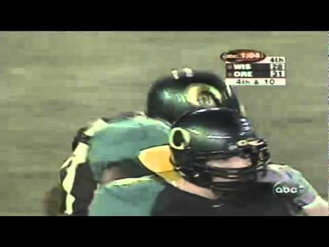 Oregon CB Rashad Bauman knocks away a deep pass vs. Wisconsin 9-01-01
