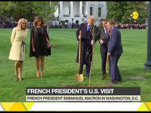 French President's US visit; Emmanuel Macron in US to hold talks with Trump