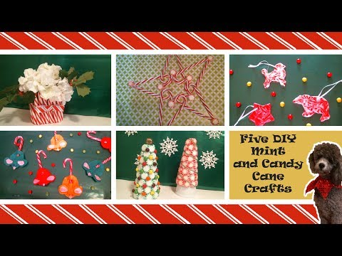 Five DIY Candy Cane And Peppermint Crafts