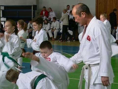 Karate for Kids by Seiji Nishimura. Seminar in Moscow 2008 (Part 1/6)