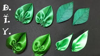 Repeat youtube video D.I.Y. Satin Ribbon Leaves - Tutorial | MyInDulzens
