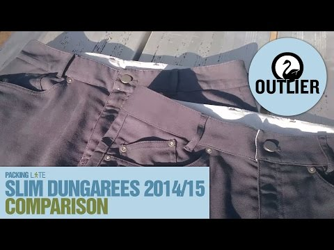 2014 vs 2015 Outlier Slim Dungarees