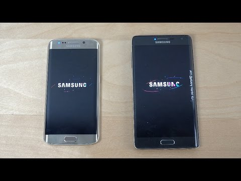Samsung Galaxy S6 Edge vs. Samsung Galaxy Note Edge - Which Is Faster? (4K)