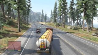 GTA 5 TRAILER TRUCK TERROR HIGH WAY