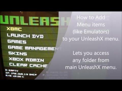 How to edit Menu items in UnleashX