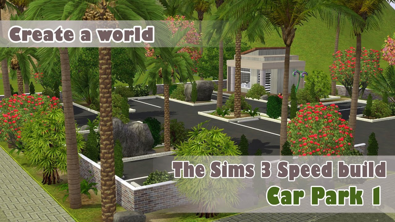 Garage Gurus Youtube The Sims 3 Speed Building Car Park 1 World Creation