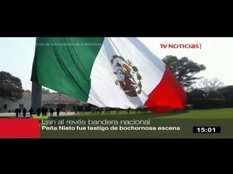 Izan Bandera De México Con El Escudo Al Revés Youtube