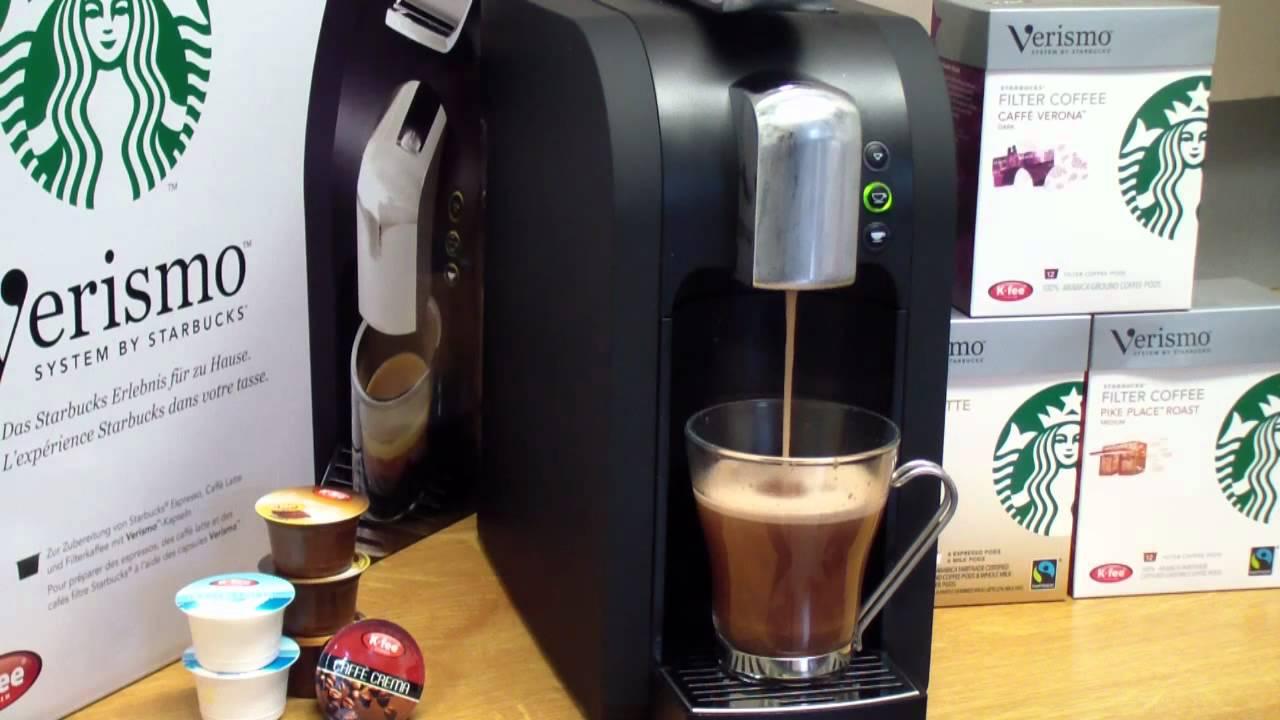 Starbucks Verismo Kakao Mit K Fee Hot Chocolate Kapseln Youtube