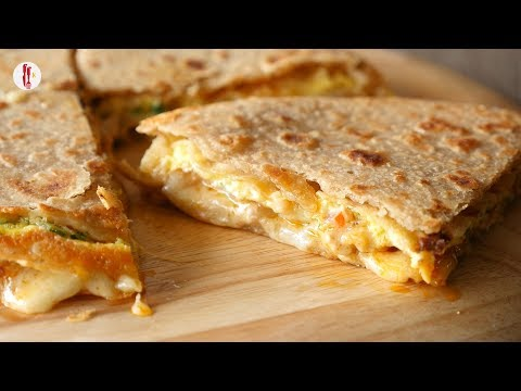 Chicken & Cheese Quesadillas With Flat Bread Recipe By Food Fusion Kids