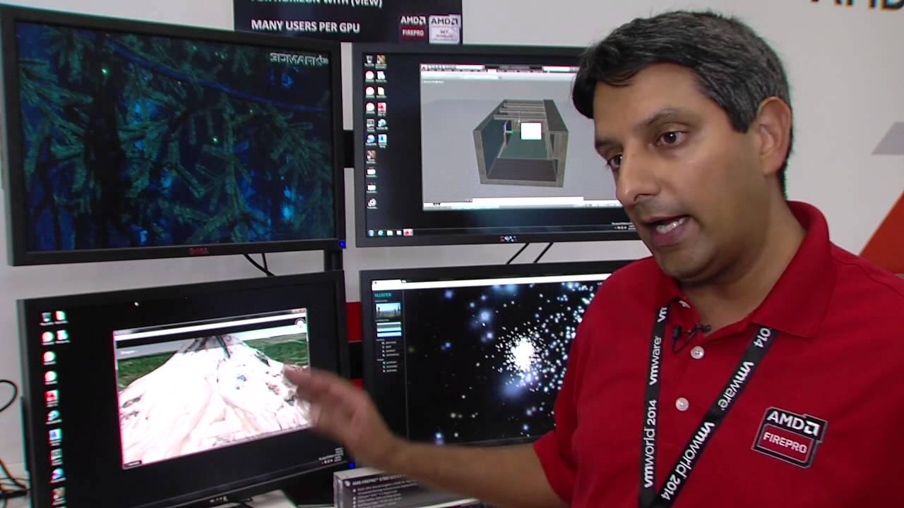AMD FirePro™ Graphics Demonstrates vSGA at VMWorld 2014