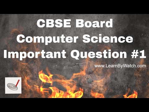CBSE Computer Science C++ important question for Exam | Output Problem 1