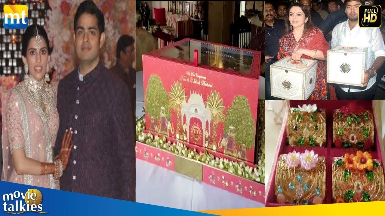 Worlds Most Expensive Wedding Invitation Cards Mukesh Ambani Son Akash Ambani Shloka Mehta