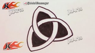"How To Draw The Ancient Celtic Symbol ""TRIQUETRA"" (Trinity Knot)  - JK Arts 013"