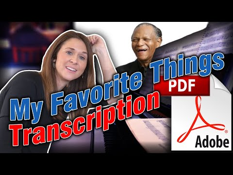 Discovering McCoy Tyner: My Favorite Things Transcription