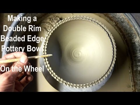 Throwing / Making a Split Rimmed Beaded Pottery Bowl on the Wheel