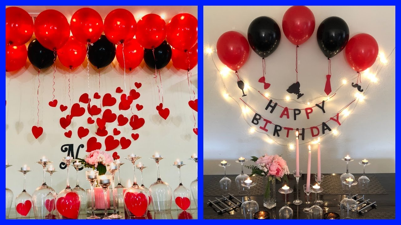 Anniversary Decoration Ideas At Home Romantic Room Decor Ideas Party Decorations Youtube