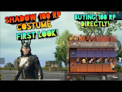 Season 5 Buying 100 Rp Directly Shadow Costume First Look Giveaway Pubg Mobile