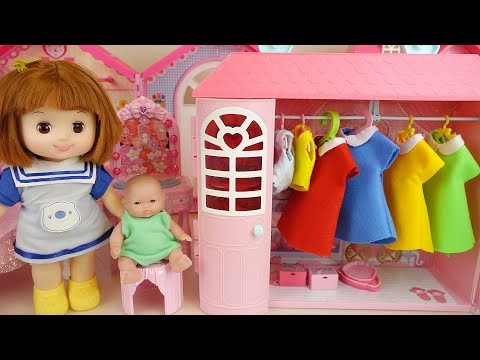 Baby doll closet and dress house play baby Doli story