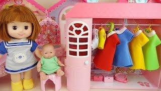 Baby doll closet and dress house play baby Doli story