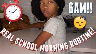 MY REAL 6AM SCHOOL MORNING ROUTINE 2019 | Just Jordyn