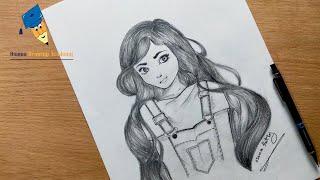 تعليم الرسم تعلم رسم وجه بنت بشكل كرتوني تعليم الرسم للمبتدئين Mp3