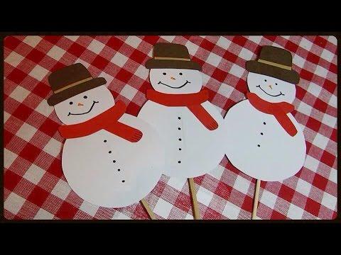 DIY Snowman -Easy paper ornament (Sneško belić od papira)