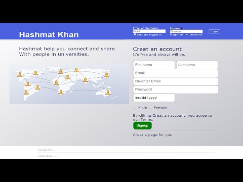 How To Create ||FACEBOOK|| LOGIN AND SIGNUP PAGE IN || HTML & CSS