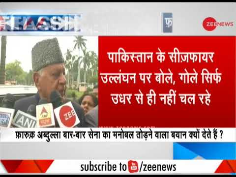 """""""Gunpowder shells not only fired from their side,"""" said Farooq Abdullah on ceasefire violation"""