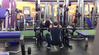 Front Squats With Straps