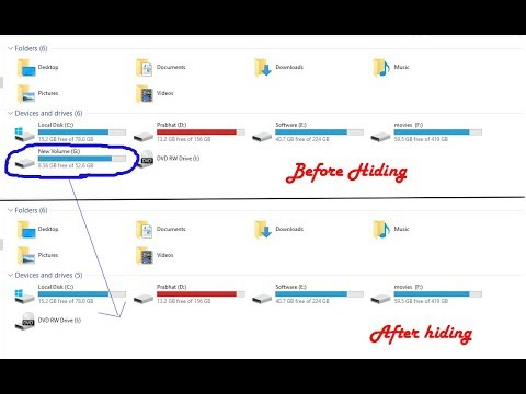 How To Hide Drive In Windows Without Any Software