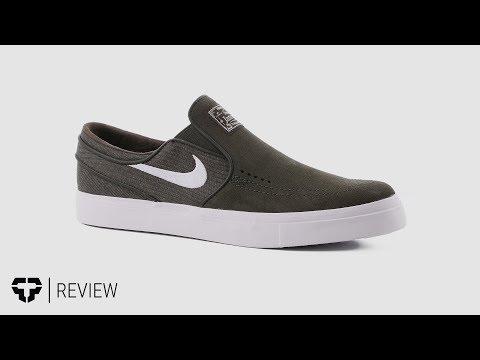 Veja o video -Nike SB Zoom Stefan Janoski Slip Skate Shoes Review – Tactics.com
