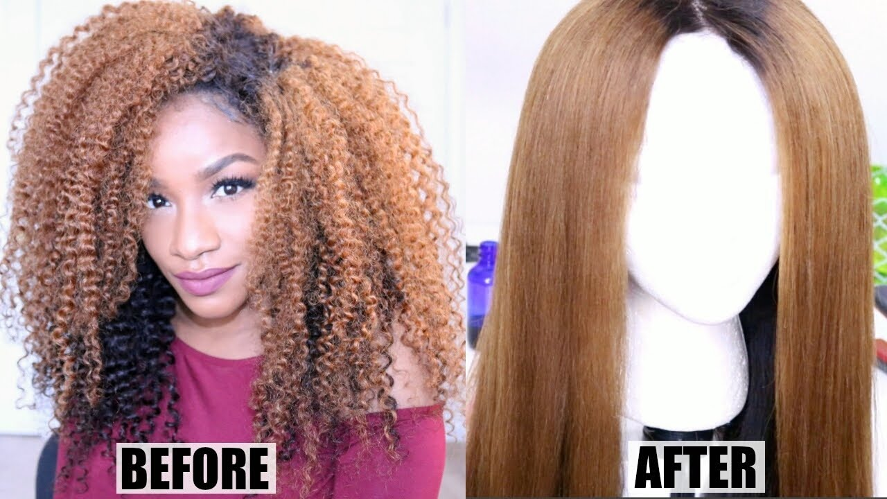 Can you flat iron synthetic hair
