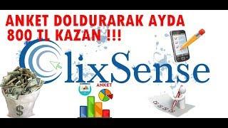 Clixsense Türkiyenin En İyi Sponsoru İle Anket Doldur Para Kazan